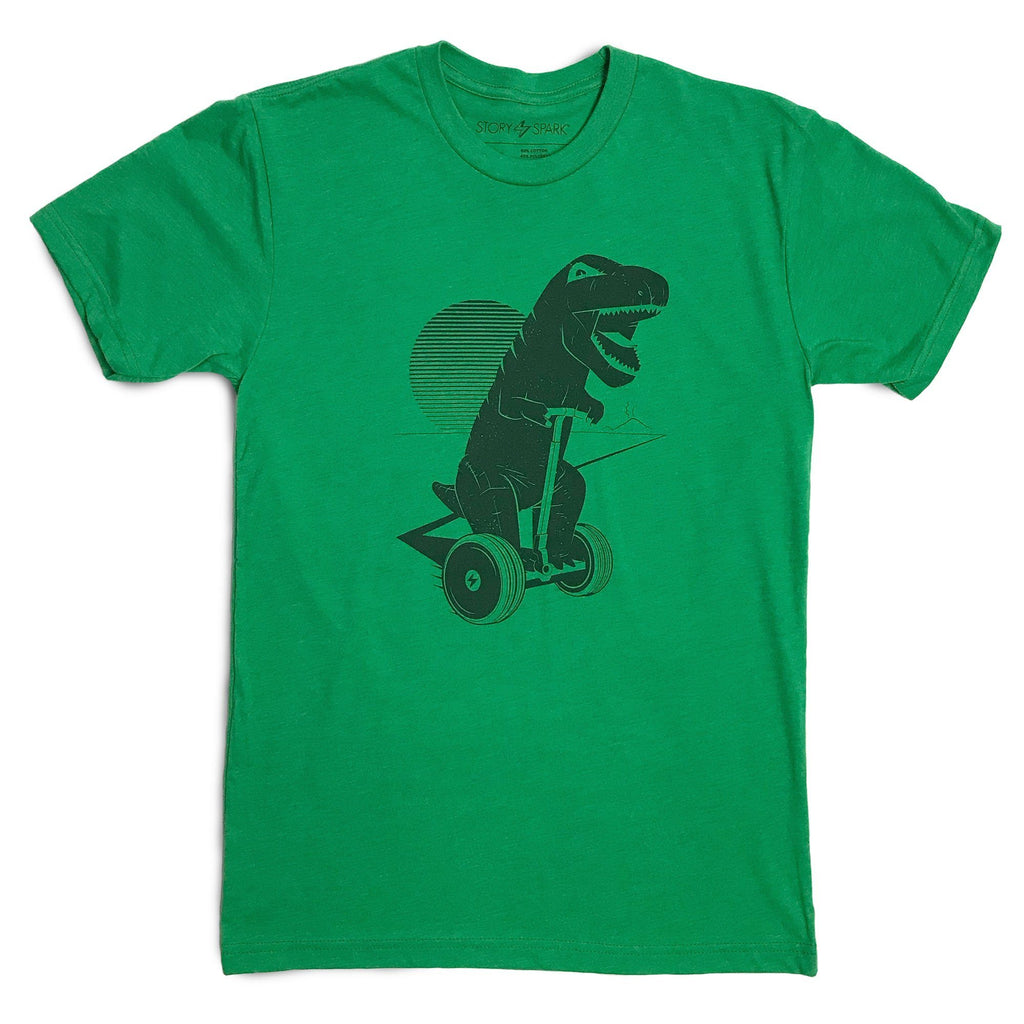 Dinosaur Graphic T-Shirts - Joy Ride T-rex on Segway Scooter