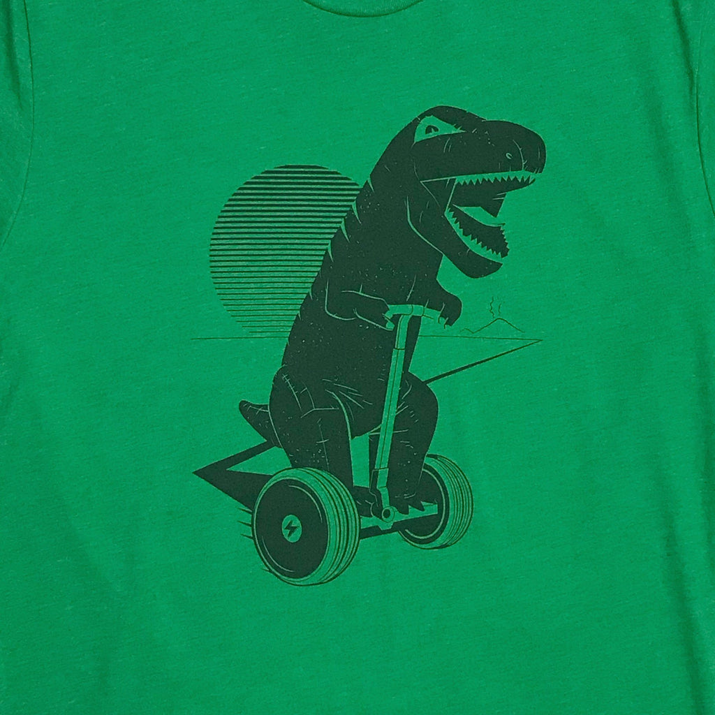 Graphic T-Shirts - Dinosaur riding segway T-shirt
