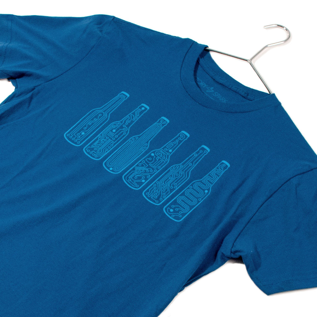 Bar Code T-Shirt (Blue) - STORY SPARK