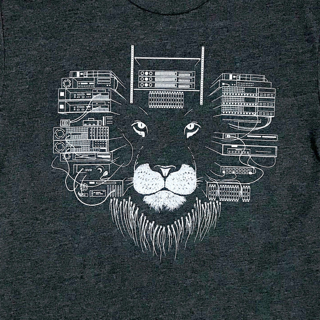 Techy Graphic T-Shirt - Hardware Lion Shirt