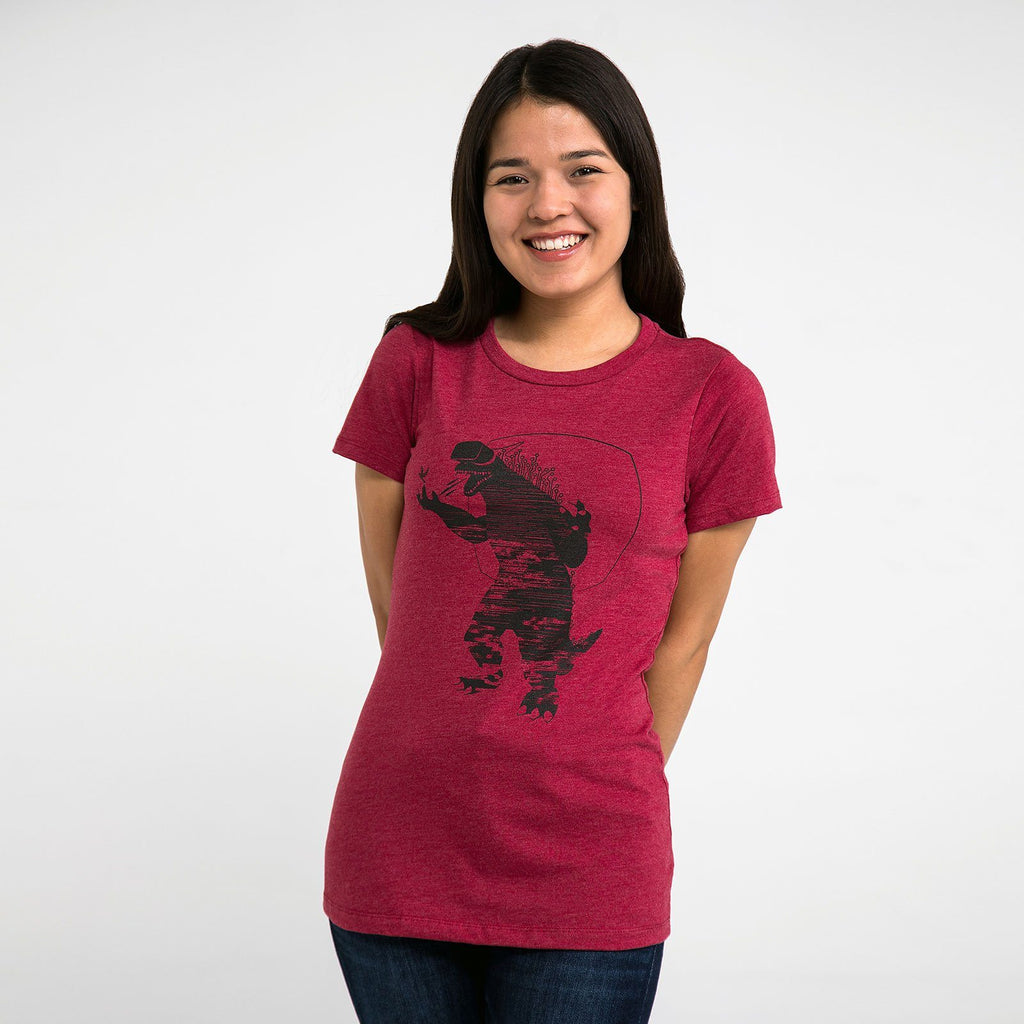 Godzilla with VR Goggles Womens T-Shirt - STORY SPARK