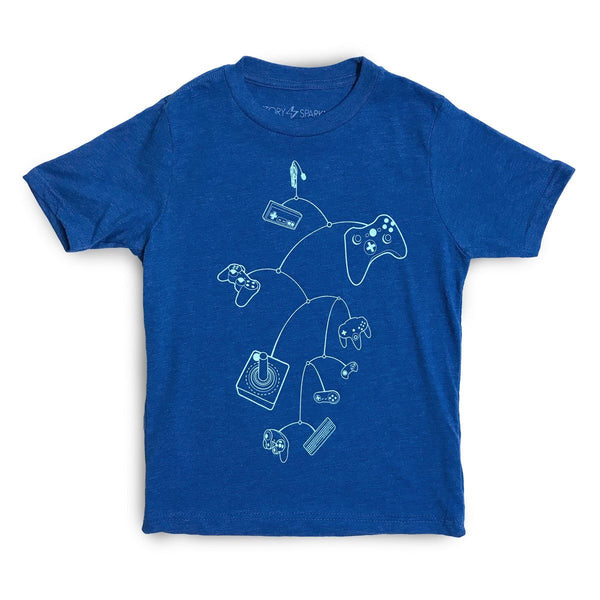 Mobile Controls Kids T-Shirt - STORY SPARK