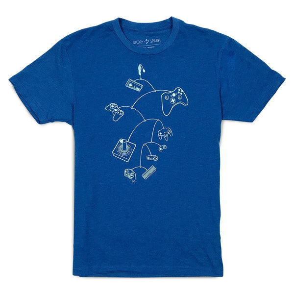 Graphic T-Shirts - Mobile Controls T-Shirt (Royal Blue)