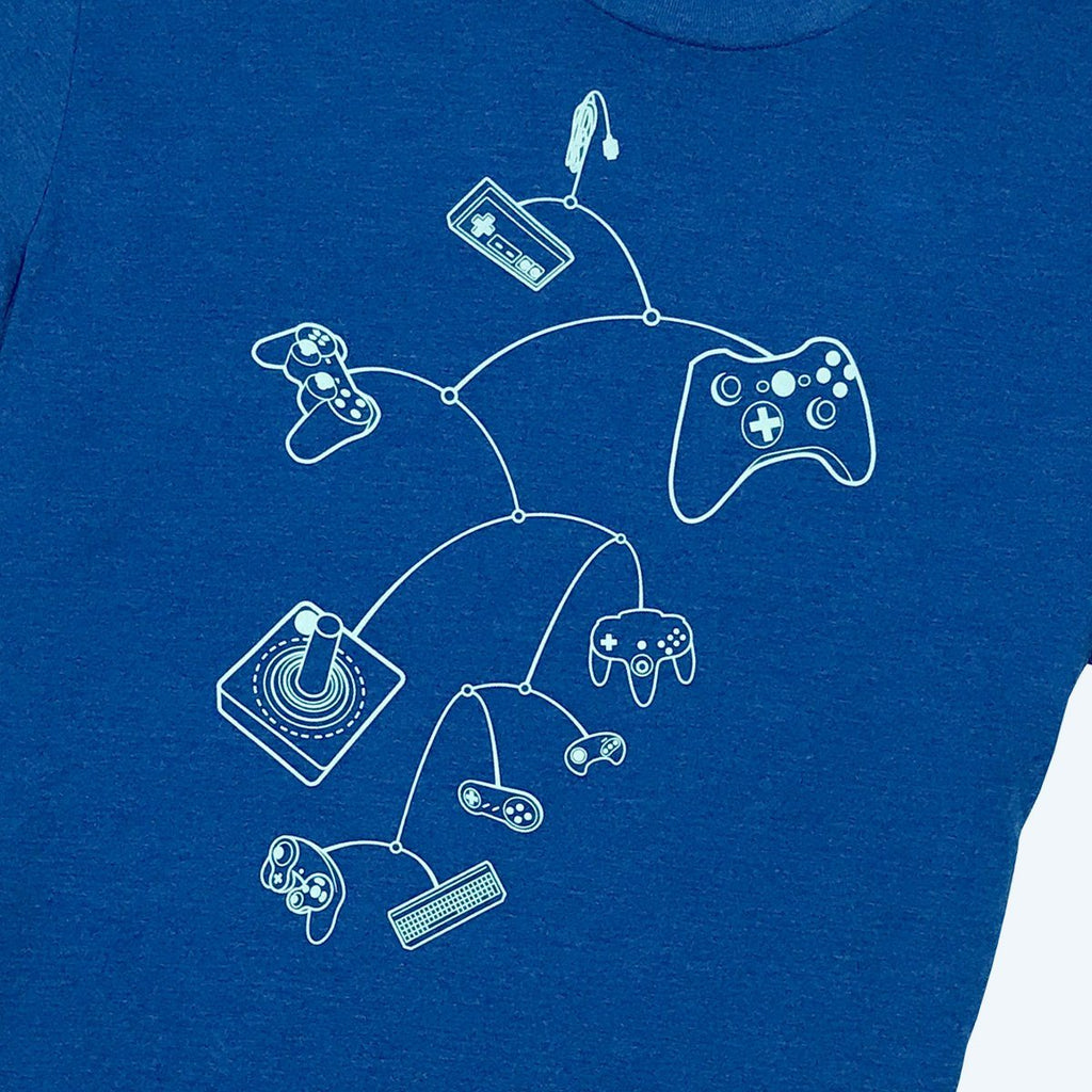 Mobile Controls Gamer T-Shirt (Royal Blue) - STORY SPARK