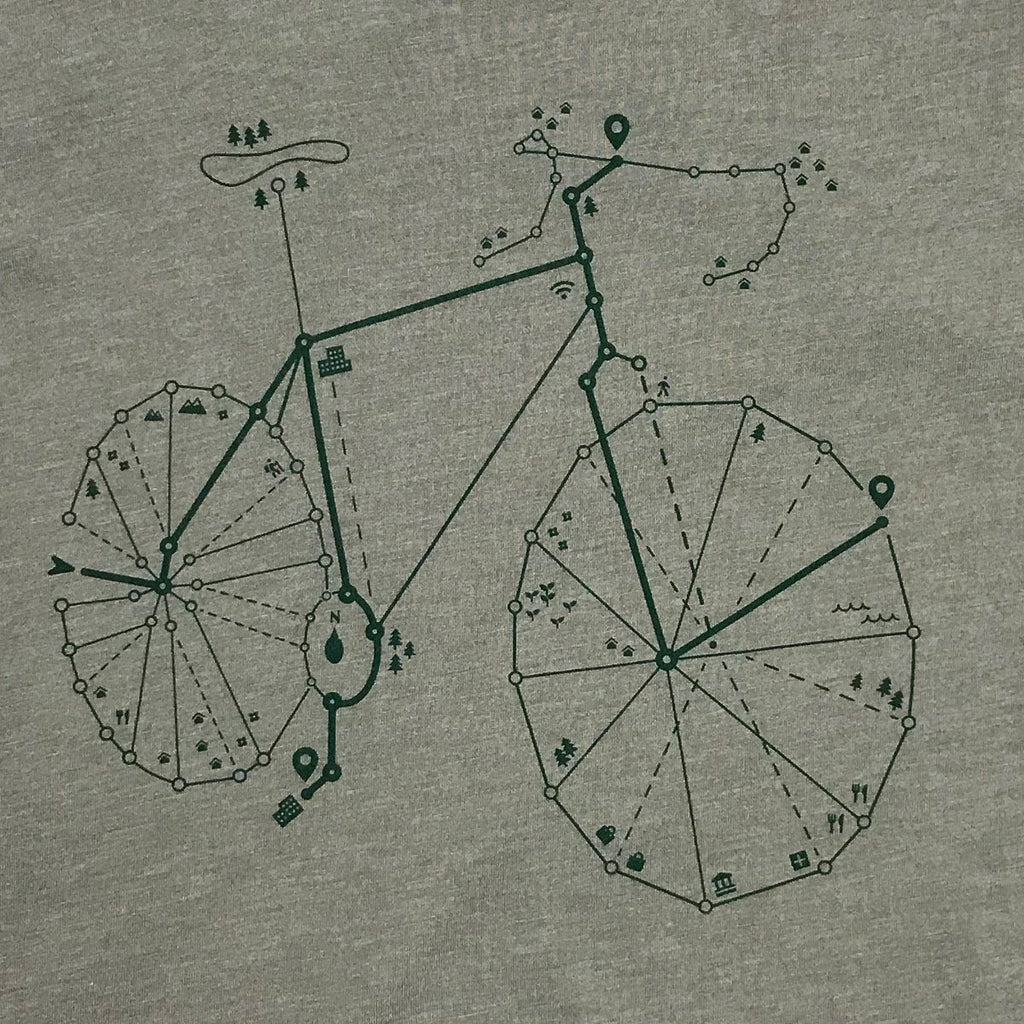 Map icon bicycle T-shirt - STORY SPARK