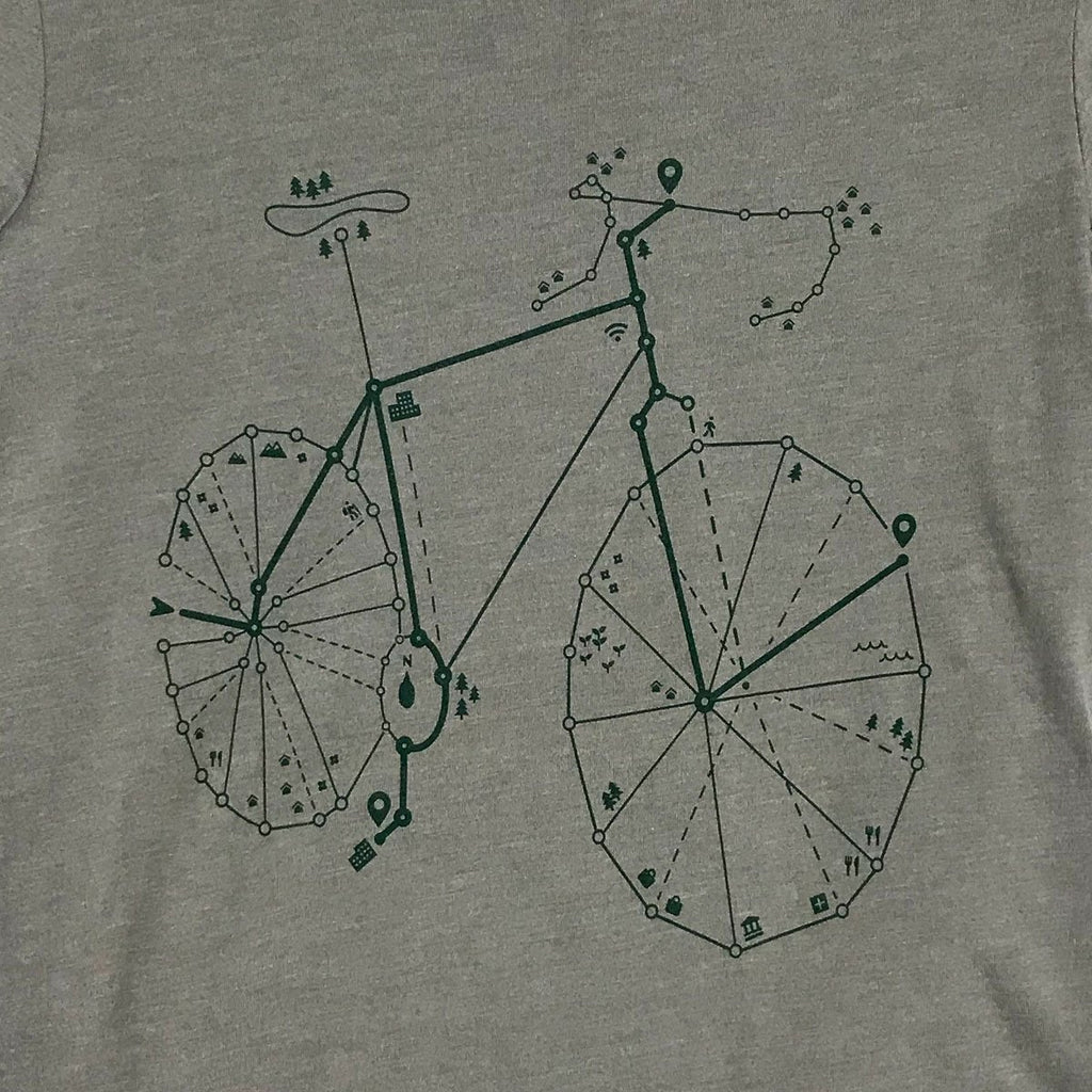 Womens Road Bike T-Shirt - STORY SPARK