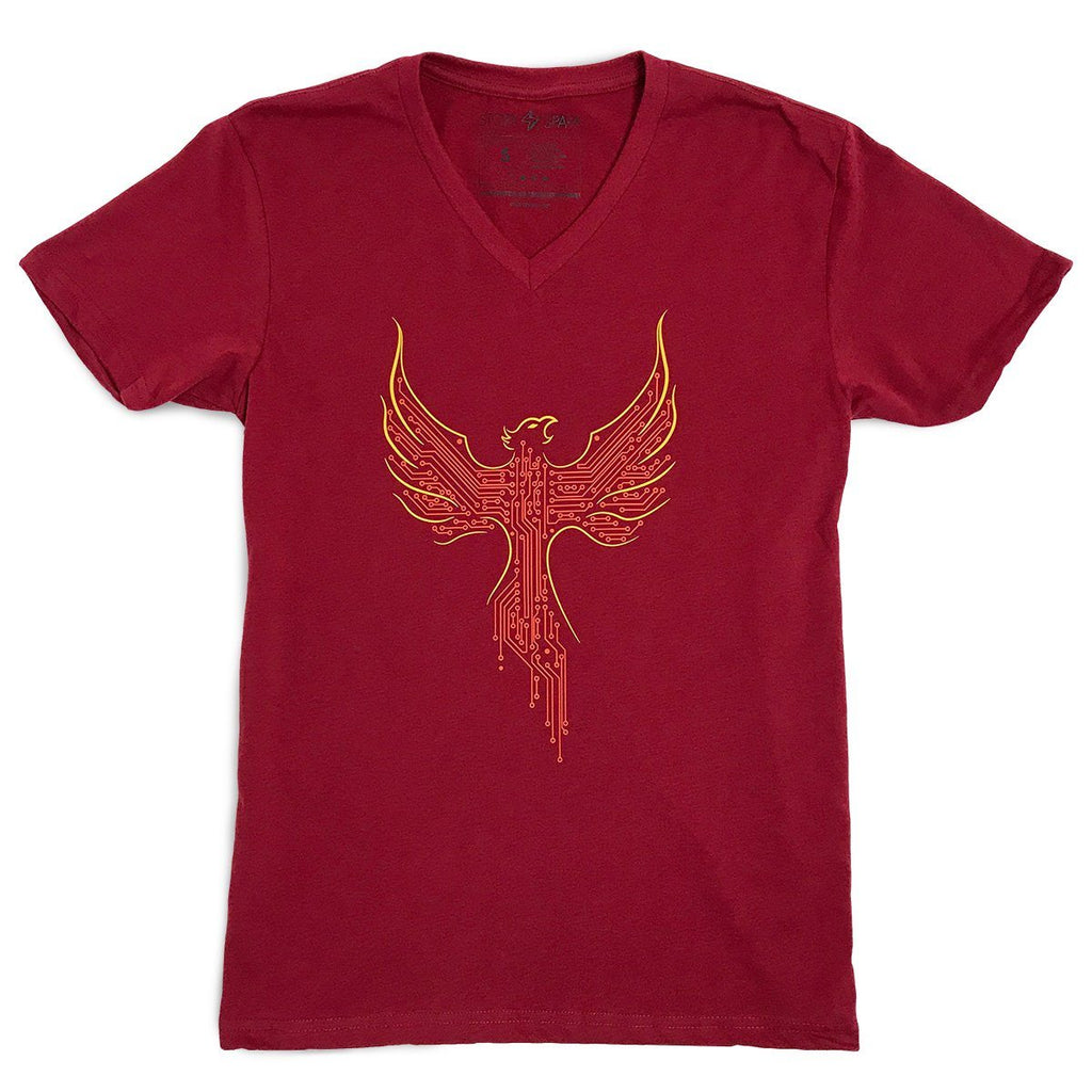 Graphic T-Shirts - Phoenix V-neck T-shirt (Red)