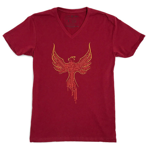 Phoenix V-neck T-shirt (Red)