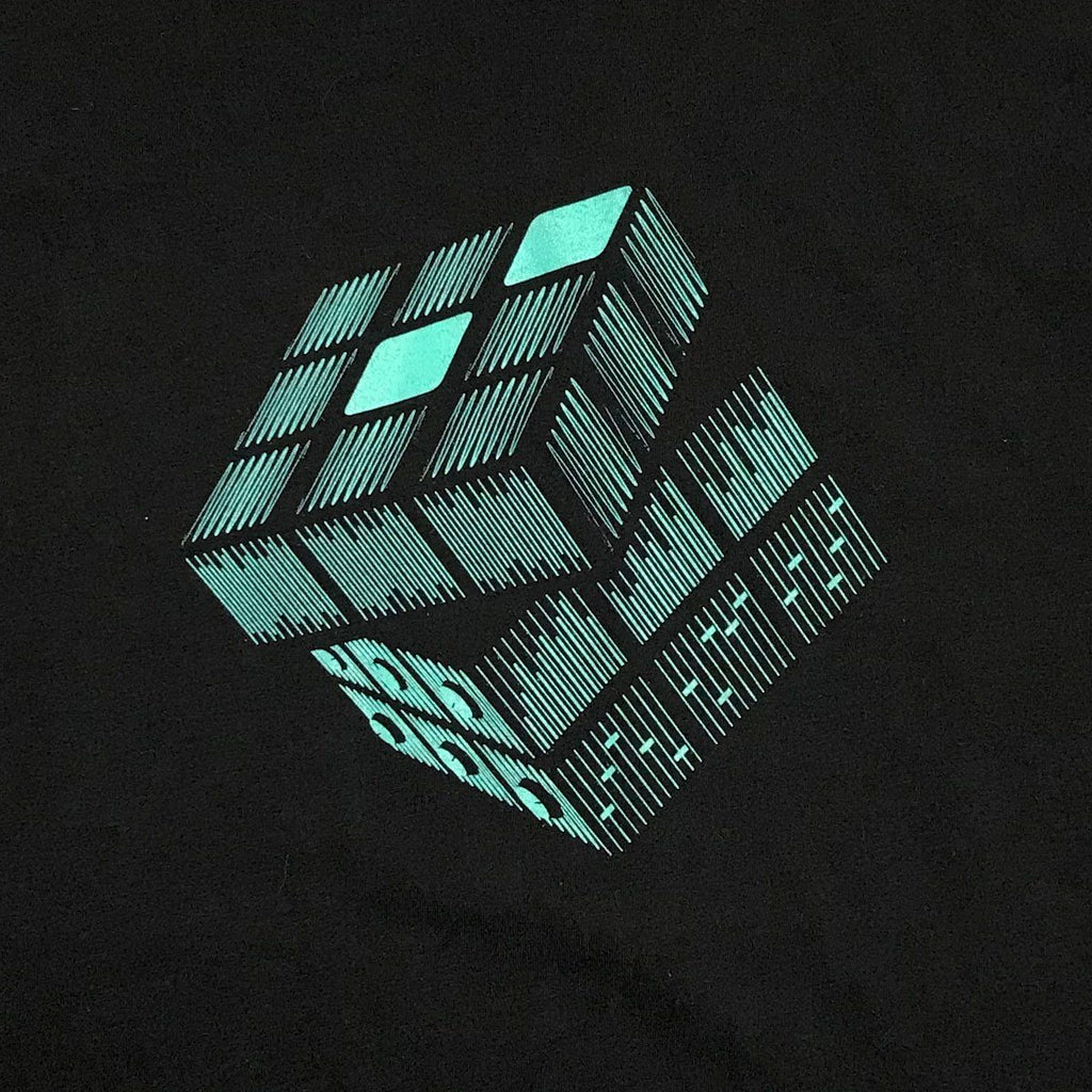 Sound waves rubiks cube graphic T-shirt - STORY SPARK