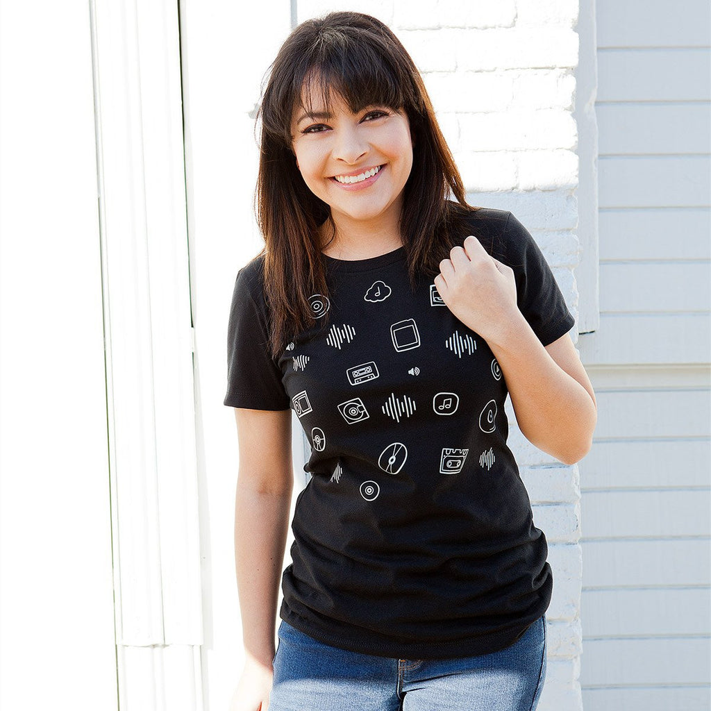 Shuffle Play Womens T-shirt - STORY SPARK