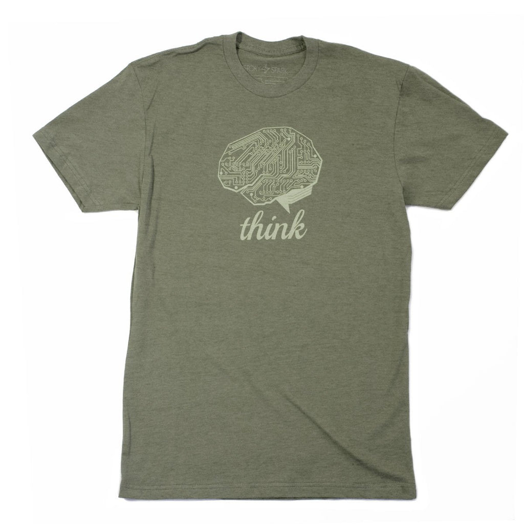 Think Tech T-Shirt (Olive) - STORY SPARK