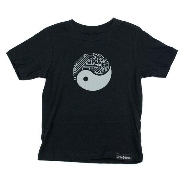 Graphic T-Shirts - Yin Yang Tech Kids T-Shirt - Story Spark - 1