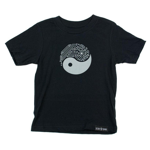 Yin Yang Tech Kids T-Shirt