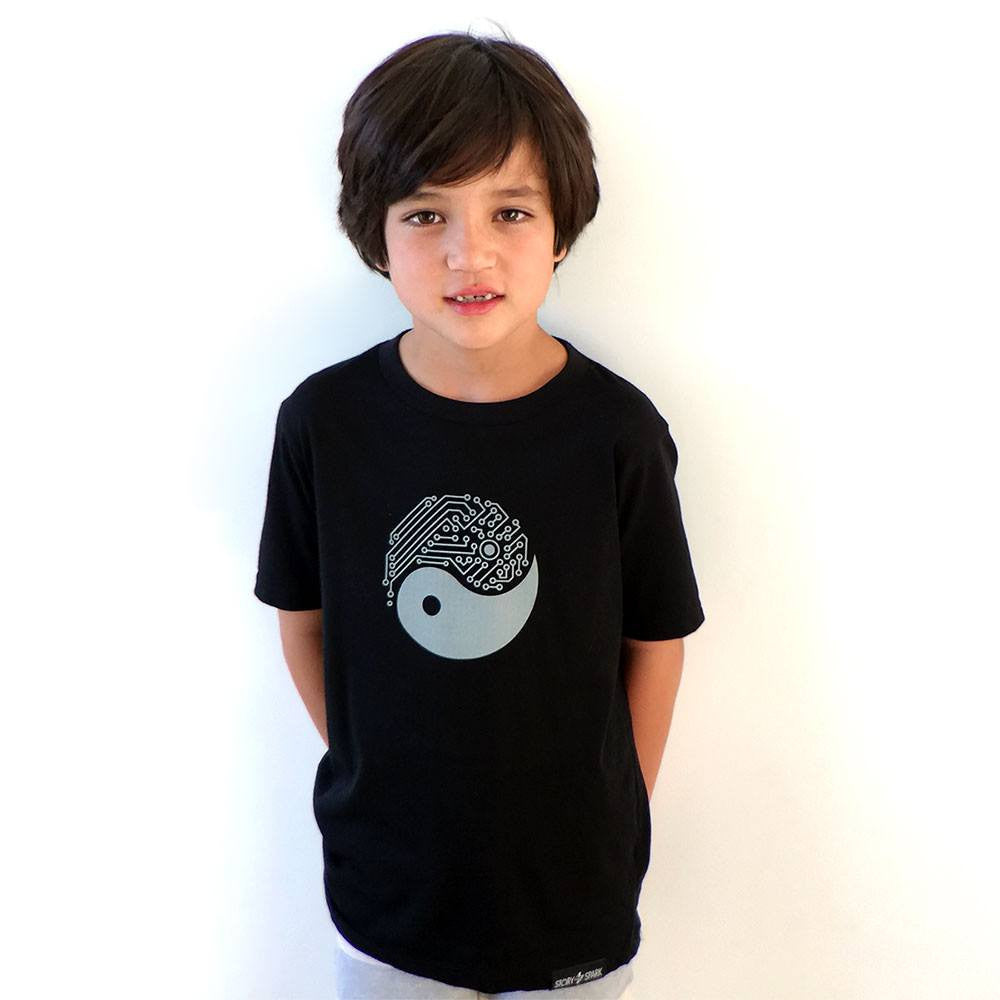 Yin Yang Tech Kids T-Shirt - STORY SPARK