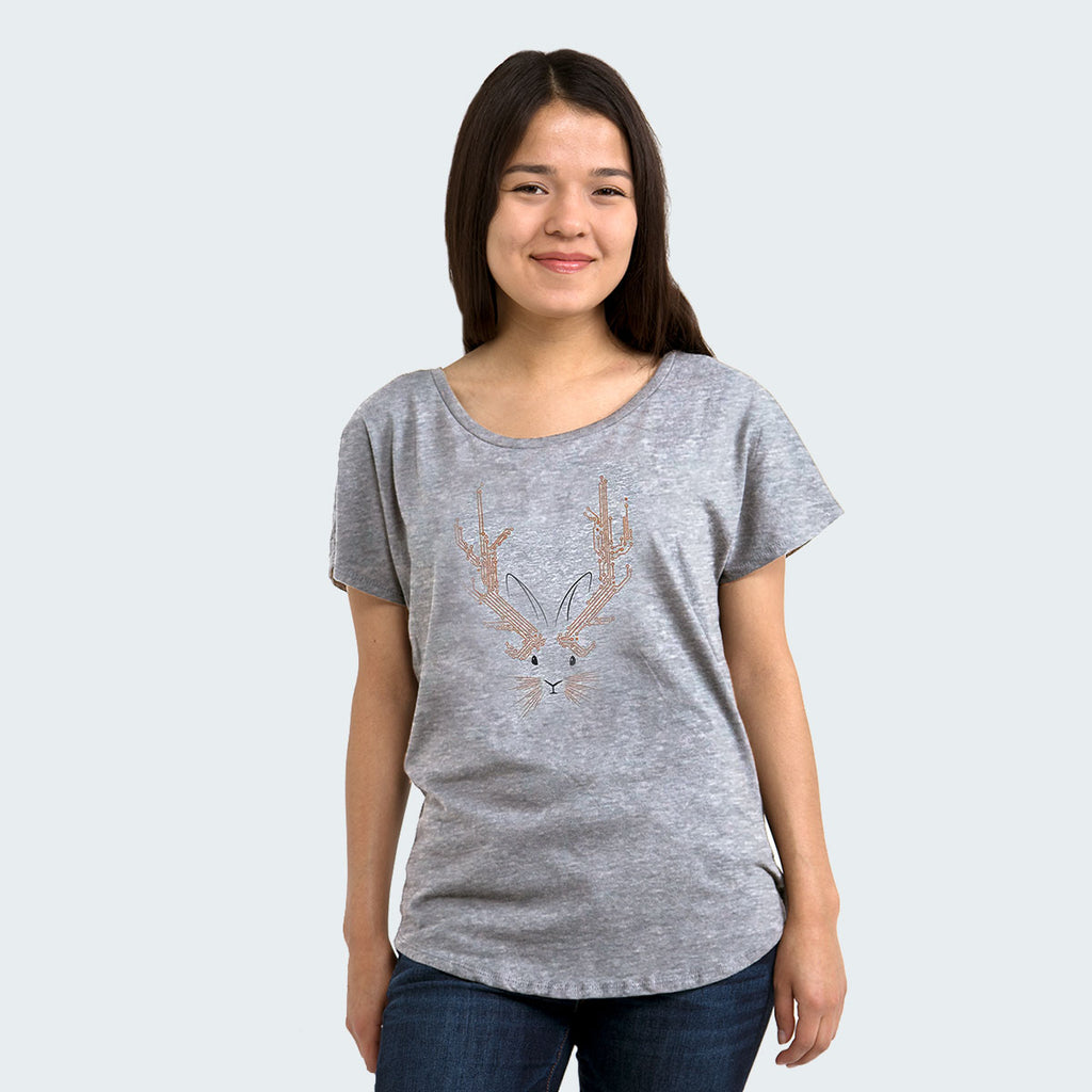 Techie Jackalope Womens T-shirt by STORY SPARK