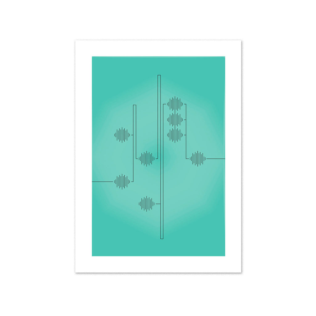 Soundbeats 5x7 art print
