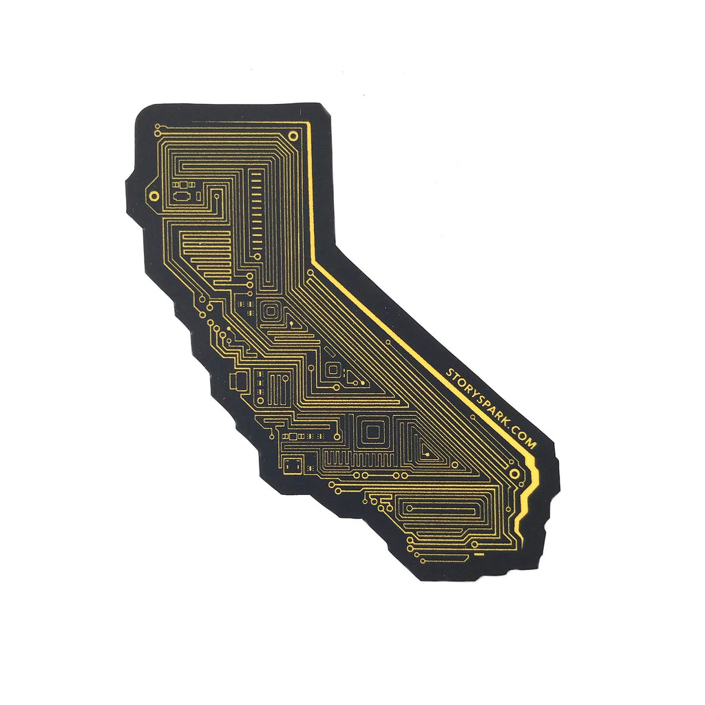 Techy California Vinyl Sticker by STORY SPARK