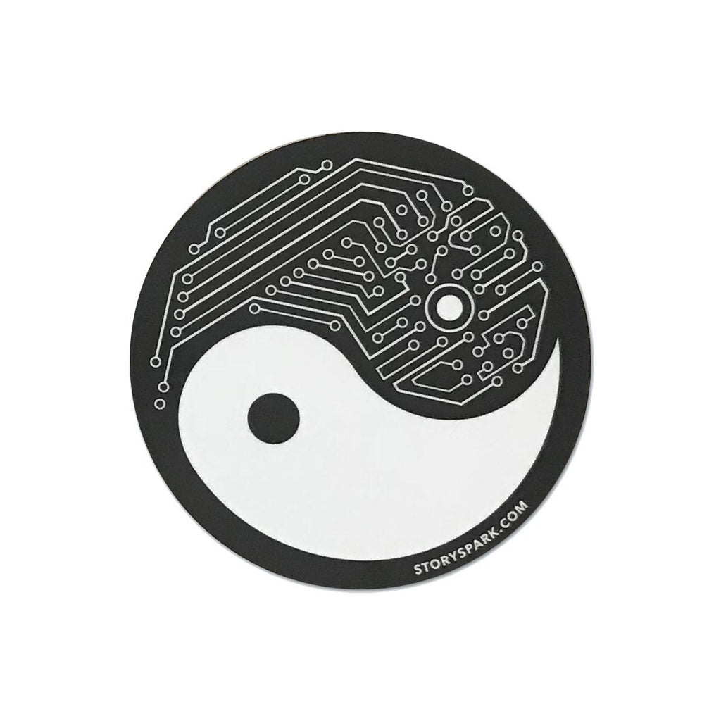 Stickers - Yin Yang Tech Vinyl Sticker