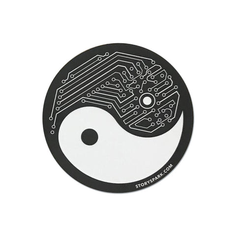 Yin Yang Tech Vinyl Sticker