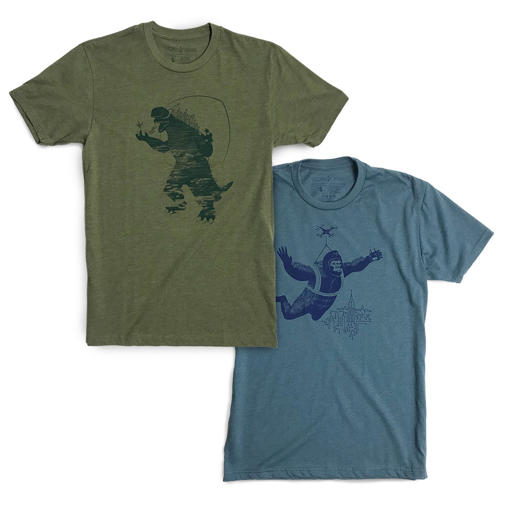 Godzilla and King Kong T-shirt Bundle by STORY SPARK