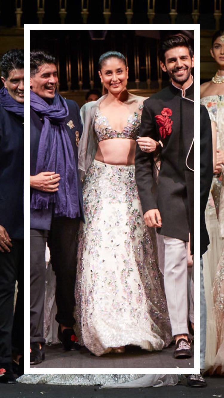 Kareena Kapoor Khan catwalks in Manish Malhotra's couture collection