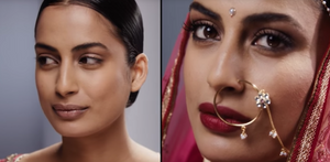 The bollywood style bridal makeup