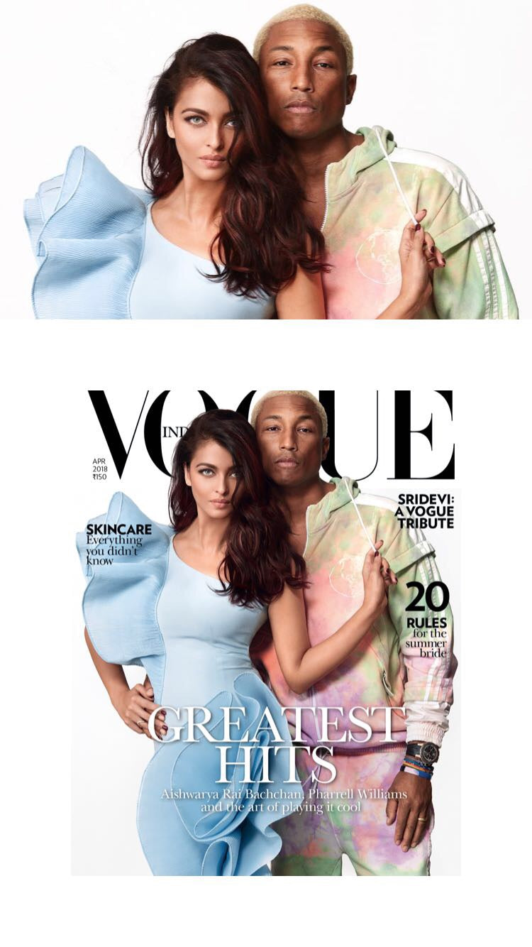 Aishwarya Rai Bachan and Pharrell Williams