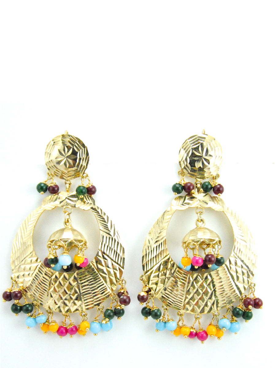 Banjara earrings with multicolored beads - Desi Royale