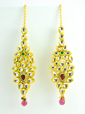 Bridal Kundan earrings - Desi Royale