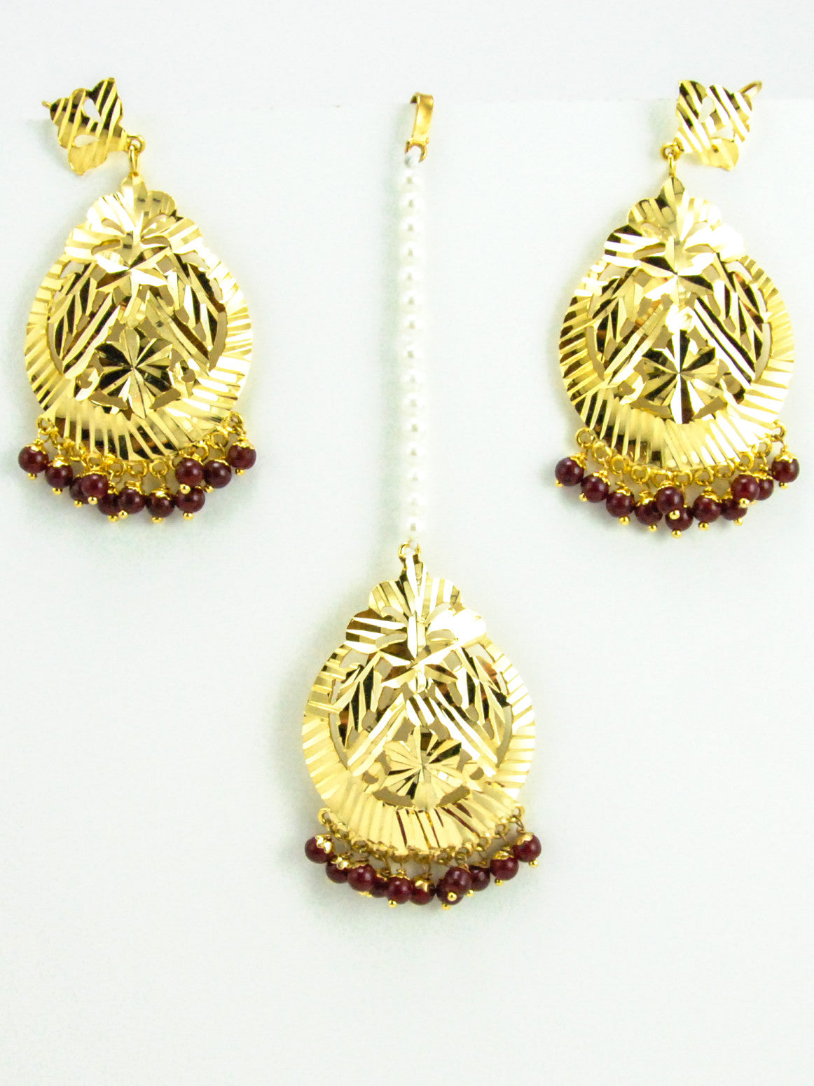 earrings german beads with silver gold designer front chandbali
