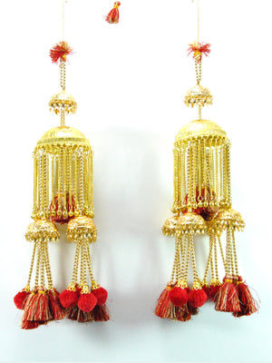 Gold Umberella Kalire with Red Tassles - Desi Royale
