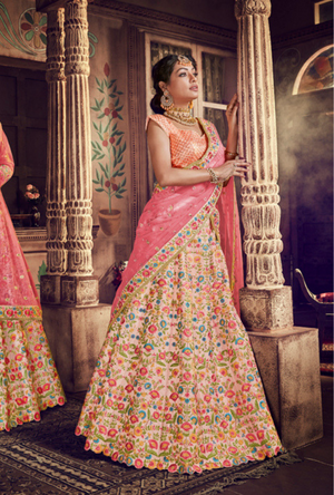 Light Pink Lehenga Choli - Desi Royale