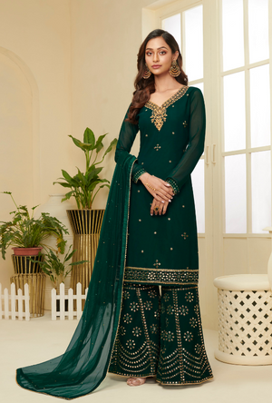 Green Sharara Suit