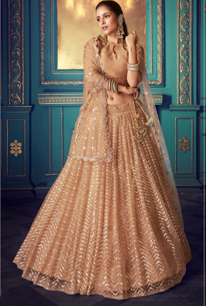 Copper Gold Lehenga Choli