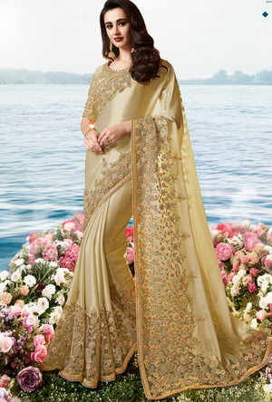 Gold Saree - Desi Royale