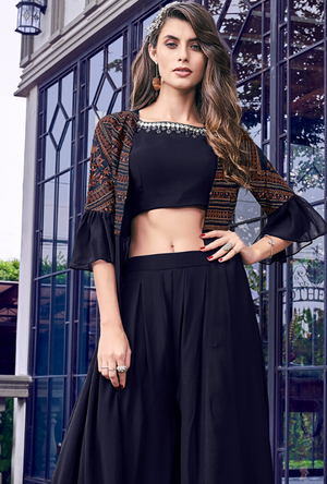 Black Indo western suit - Desi Royale