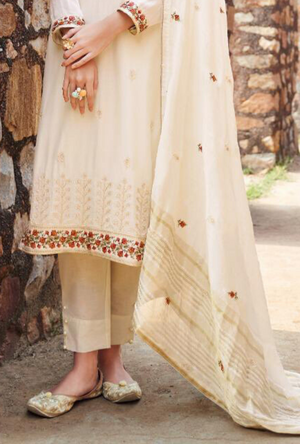 Off White Salwar Suit - Desi Royale