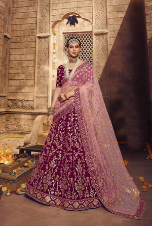 Purple Lehenga Choli