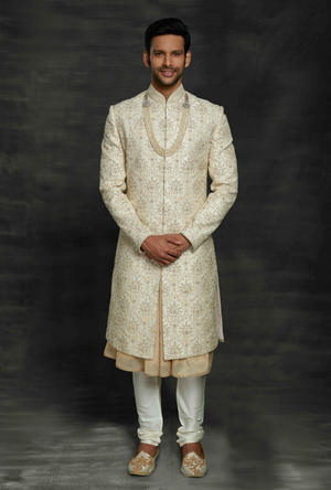 Off White Mens Sherwani
