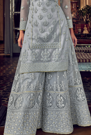 Light Blue Sharara Suit