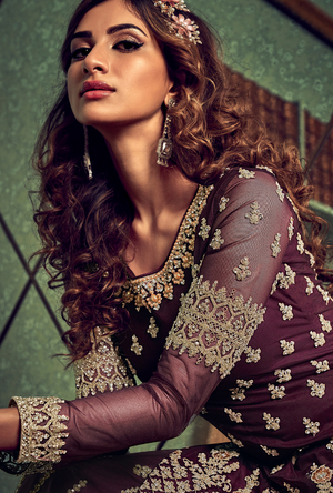 Purple Sharara Suit
