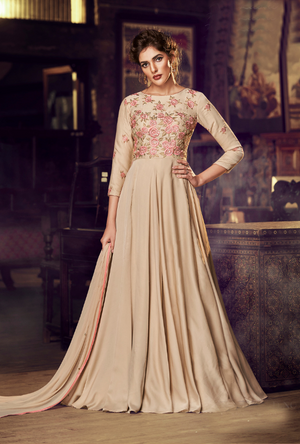 Chiku party wear gown suit