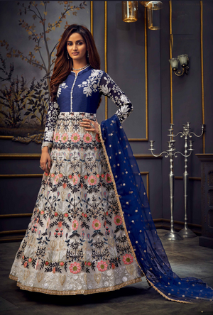 Multicolor Anarkali Suit