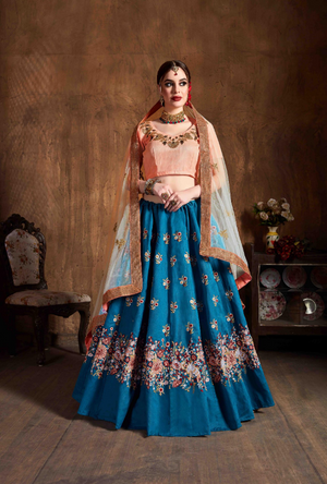 Seafoam Green Anarkali Suit - Desi Royale