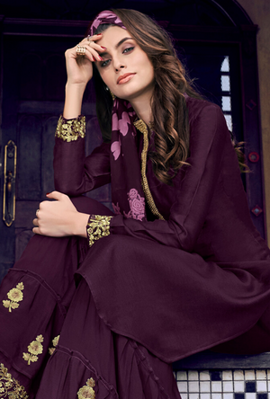Violet Sharara Suit - Desi Royale