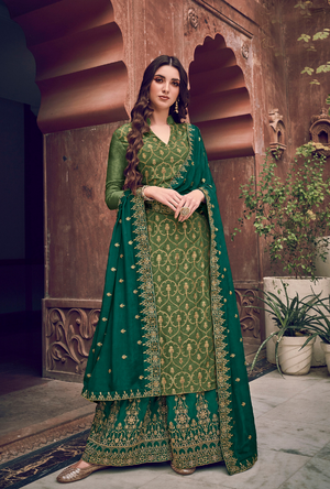 Green Palazzo Suit