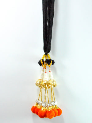 Pearl Lotan Parandi with Orange tassles - Desi Royale