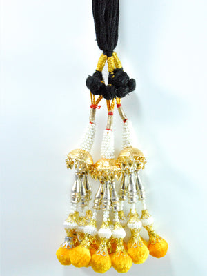 Pearl Lotan Parandi with Yellow tassles - Desi Royale