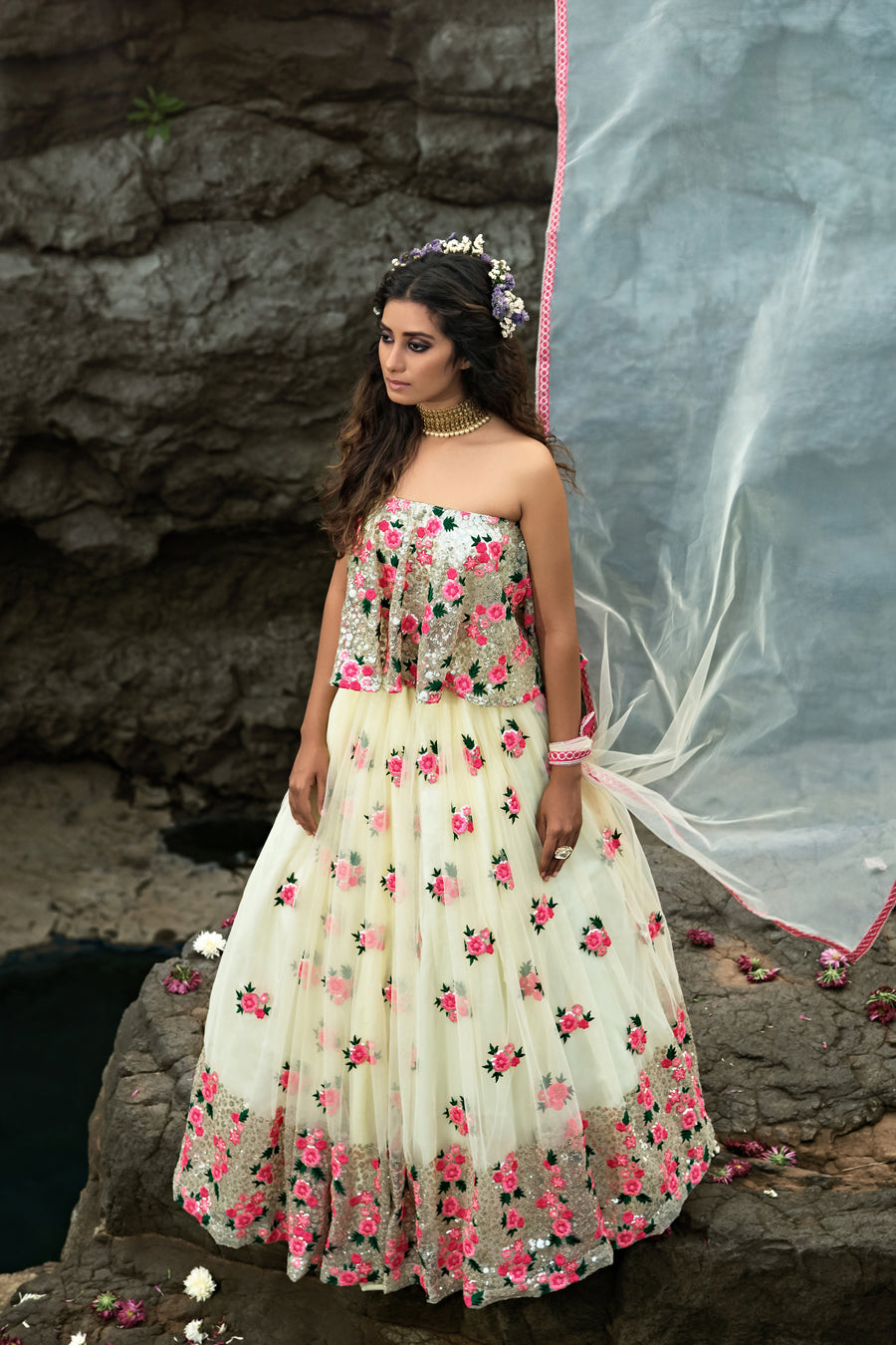 Off White Lehenga Choli