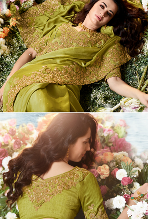 Green Saree - Desi Royale